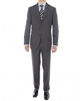 Luciano Natazzi Men's 160'S Worsted Wool - Image1