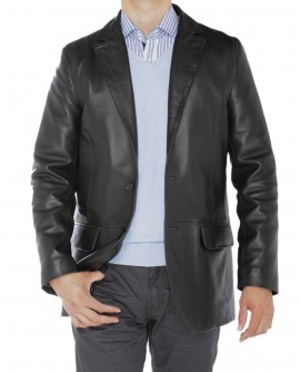 Luciano Natazzi Men's Lambskin Leather B - Image1